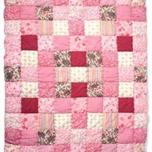 Baby Boum 100% cotton Cotty Pink Patchwork Duvet